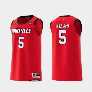 #5 Red Malik Williams Cardinals Jersey Replica Men College Basketball
