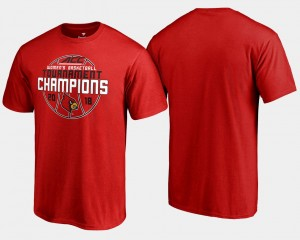 Basketball Conference Tournament Men Cardinals T-Shirt Red 2018 ACC Women's Champions