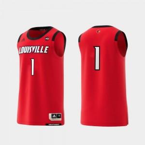 Basketball Swingman College Adidas Replica #1 Cardinals Jersey Red For Men's