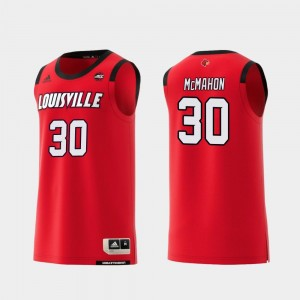 #30 For Men Replica College Basketball Red Ryan McMahon Louisville Jersey