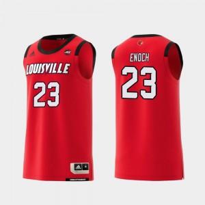 Red Replica Men Steven Enoch Cardinals Jersey #23 College Basketball