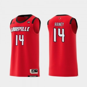 Will Rainey Louisville Jersey Men Replica Red #14 College Basketball