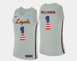 US Flag Fashion Basketball Lucas Williamson Loyola Jersey For Men's #1 White