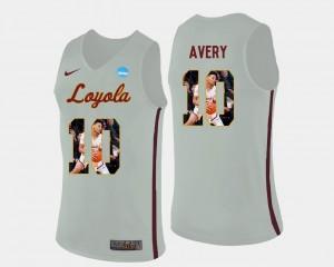 #10 Adarius Avery Loyola Jersey Mens Basketball Pictorial Fashion White
