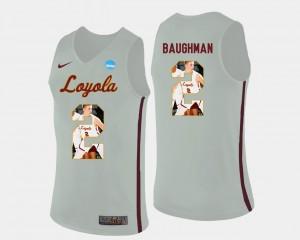 Pictorial Fashion Basketball For Men's Jake Baughman Ramblers Jersey White #2