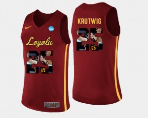 Pictorial Fashion #25 Cameron Krutwig Ramblers Jersey Maroon Basketball For Men's