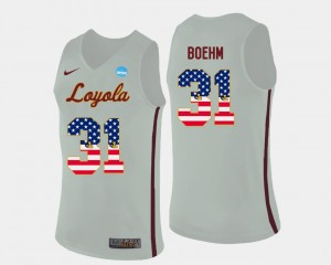 Dylan Boehm Ramblers Jersey #31 Basketball White US Flag Fashion For Men