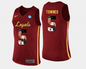 Pictorial Fashion Marques Townes Loyola Ramblers Jersey Basketball Maroon #5 For Men's