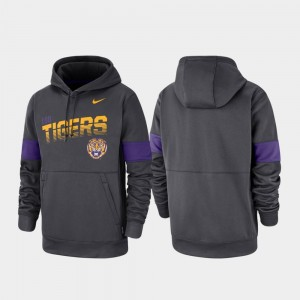 Anthracite For Men's Performance LSU Tigers Hoodie Pullover Nike