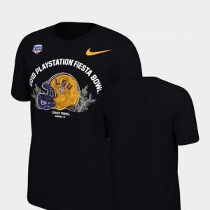2019 Fiesta Bowl Bound Helmet Nike Black Men LSU T-Shirt