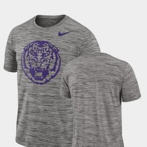 Men Charcoal LSU T-Shirt Performance Nike 2018 Player Travel Legend