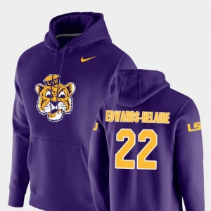 Clyde Edwards-Helaire LSU Tigers Hoodie Purple Nike Pullover For Men Vault Logo Club #22
