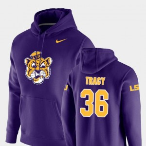 #36 Purple For Men's Nike Pullover Vault Logo Club Cole Tracy LSU Hoodie