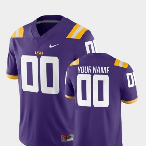 2018 Game Nike For Men's LSU Customized Jersey #00 College Football Purple