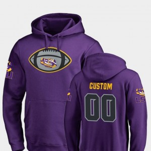 #00 Game Ball Fanatics Branded Football Mens LSU Tigers Custom Hoodie Purple
