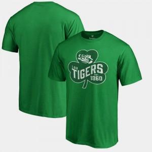 St. Patrick's Day Mens Paddy's Pride Big & Tall Kelly Green LSU T-Shirt