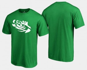 Louisiana State Tigers T-Shirt St. Patrick's Day White Logo Big & Tall Kelly Green Men's