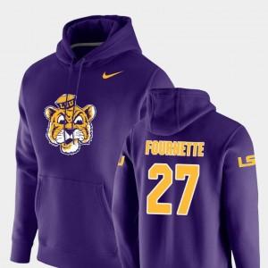 Vault Logo Club Lanard Fournette LSU Hoodie #27 Nike Pullover Mens Purple