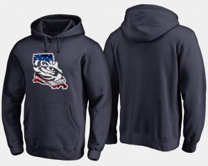Navy For Men Tigers Hoodie Banner State Big & Tall
