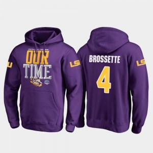 Purple Fanatics Branded Counter Nick Brossette LSU Hoodie For Men #4 2019 Fiesta Bowl Bound