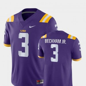 Men Game College Football Nike Odell Beckham Jr LSU Tigers Jersey Purple #3