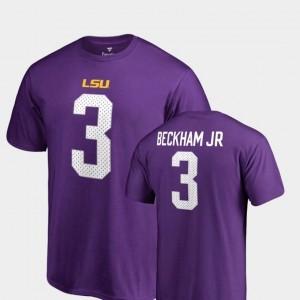Odell Beckham Jr LSU T-Shirt For Men Purple Name & Number College Legends #3