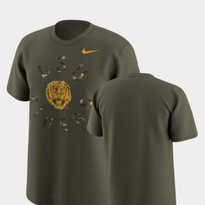 Nike Legend Camo LSU T-Shirt Olive For Men's