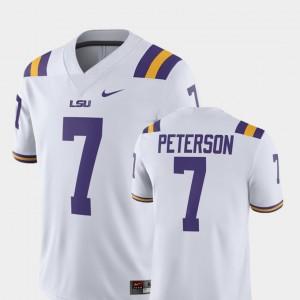 Alumni Football Game Men's #7 White Patrick Peterson LSU Tigers Jersey Player Nike