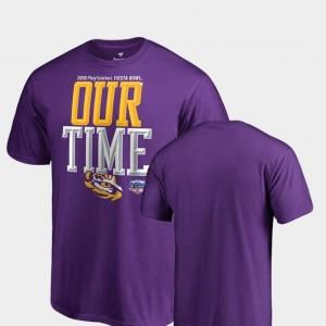 Mens 2019 Fiesta Bowl Bound Counter Big & Tall Purple Tigers T-Shirt
