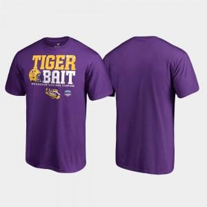 2019 Fiesta Bowl Champions For Men Endaround Fanatics Branded Purple Louisiana State Tigers T-Shirt