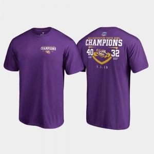 Purple Tigers T-Shirt 2019 Fiesta Bowl Champions Fair Catch Score Fanatics Branded Mens