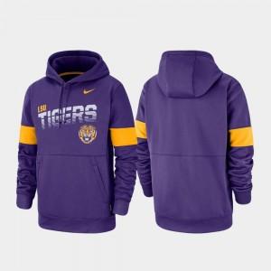 Purple Pullover Nike Men's Performance Louisiana State Tigers Hoodie
