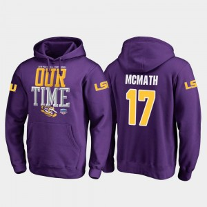 For Men's 2019 Fiesta Bowl Bound #17 Purple Fanatics Branded Counter Racey McMath Tigers Hoodie