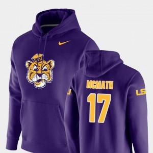 Nike Pullover #17 Purple Vault Logo Club For Men's Racey McMath LSU Hoodie