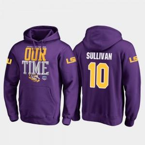 Purple Fanatics Branded Counter Men Stephen Sullivan LSU Hoodie 2019 Fiesta Bowl Bound #10