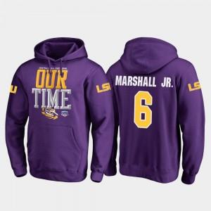 Mens 2019 Fiesta Bowl Bound Purple Terrace Marshall Jr. Tigers Hoodie Fanatics Branded Counter #6