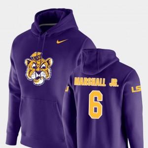 Nike Pullover Mens #6 Terrace Marshall Jr. Tigers Hoodie Purple Vault Logo Club