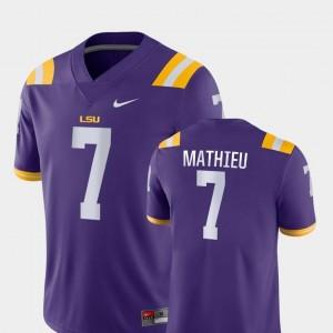 #7 College Football Nike Purple Mens Game Tyrann Mathieu LSU Tigers Jersey