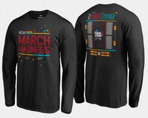 For Men's Black 68 Team Bracket Long Sleeve Basketball Tournament March Madness T-Shirt
