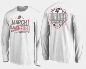 March Madness T-Shirt 68 Team Ball Long Sleeve Basketball Tournament For Men's White