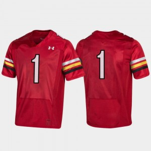 Men College Football Replica #1 150th Anniversary Red Terrapins Jersey