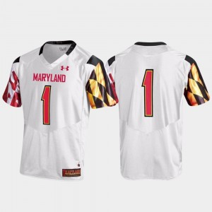 White #1 Under Armour Terrapins Jersey For Men's Replica
