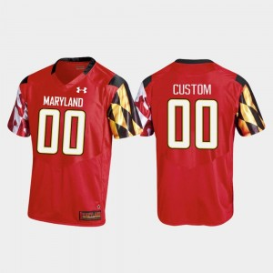 Replica Under Armour Red Mens #00 Maryland Customized Jerseys College Football