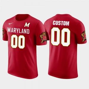 Men #00 Red Cotton Football Future Stars Terrapins Custom T-Shirts