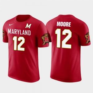 Red For Men #12 Carolina Panthers Football Future Stars D.J. Moore Maryland T-Shirt