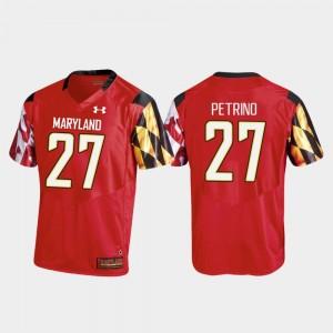 Joseph Petrino Maryland Jersey Men's #27 College Football Replica Under Armour Red