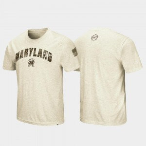 OHT Military Appreciation University of Maryland T-Shirt Oatmeal Men's Desert Camo
