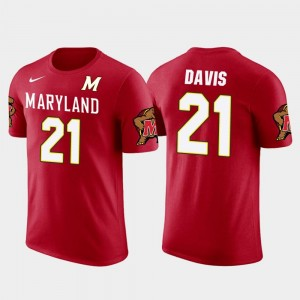 Future Stars Mens Pittsburgh Steelers Football Red Sean Davis Maryland T-Shirt #21