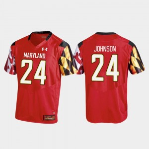 Ty Johnson Maryland Jersey College Football Red #24 For Men's Replica Under Armour