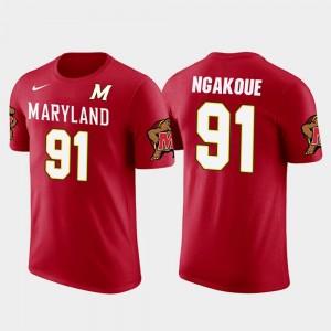For Men Future Stars Red Jacksonville Jaguars Football Yannick Ngakoue Maryland Terrapins T-Shirt #91
